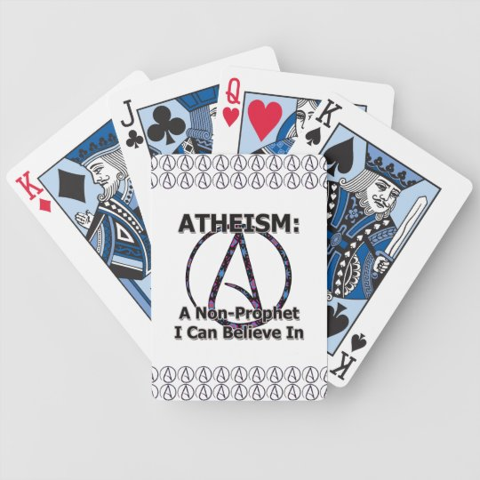 Atheism: A Non-Prophet I Can Believe In Bicycle Playing Cards