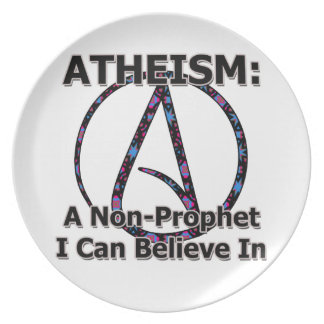 Atheism: A Non-Prophet I Can Believe In Party Plate