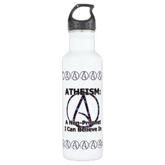 Atheism: A Non-Prophet I Can Believe In Water Bottle