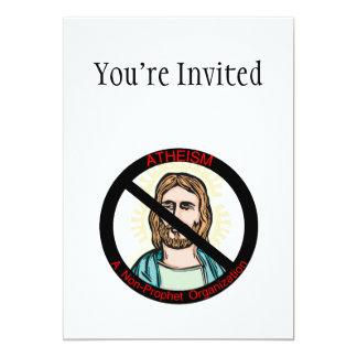 "Atheism A Non Prophet Organization 5"" X 7"" Invitation Card"