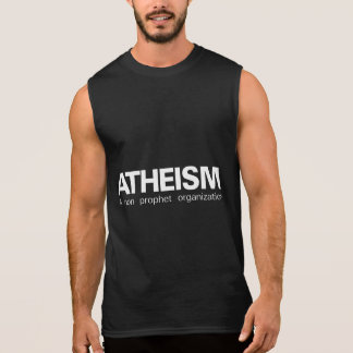 Atheism a non prophet organization sleeveless shirt