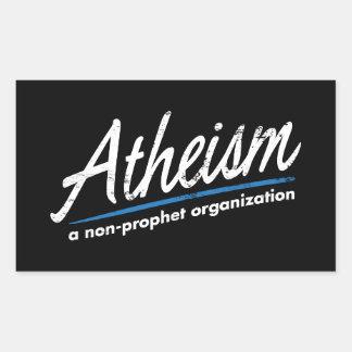 Atheism A non-prophet organization Rectangle Stickers