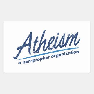 Atheism a non-prophet organization rectangular stickers