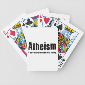 Atheism. A personal relationship with reality. Bicycle Playing Cards