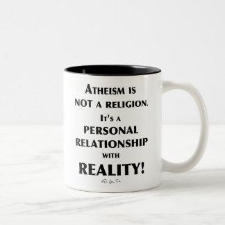 Atheism and Reality Two-Tone Coffee Mug