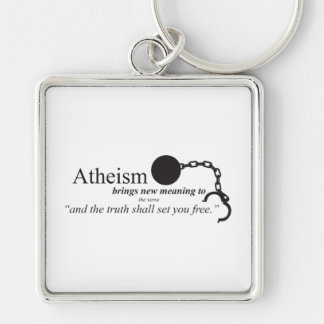 Atheism brings new meaning keychain
