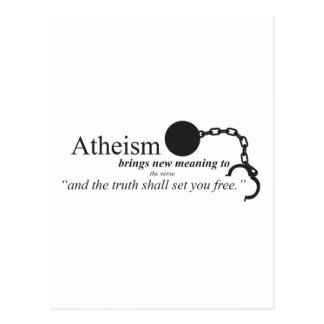 Atheism brings new meaning postcard