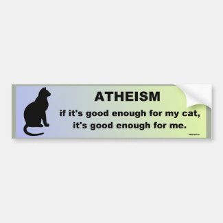 atheism car bumper sticker