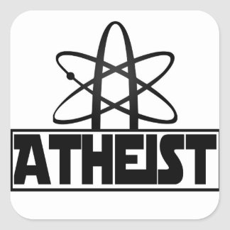 Atheism indication square sticker