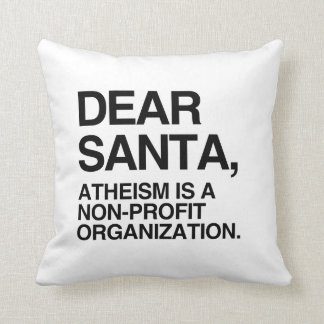 ATHEISM IS A NON-PROFIT ORGANIZATION -.png Throw Pillow
