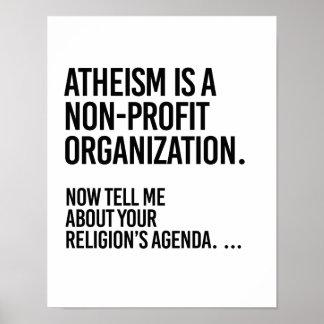 Atheism is a Non-Profit Organization - - Pro-Scien Poster