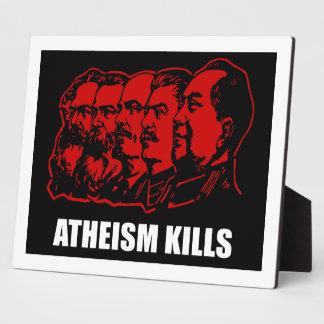 Atheism Kills Display Plaques