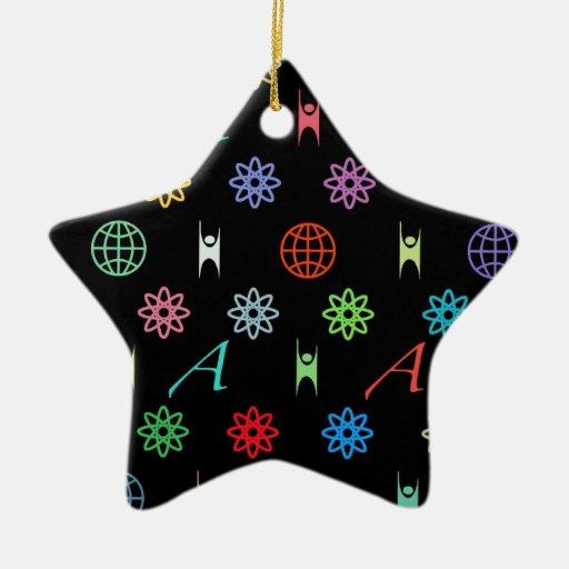 Atheism Monogram Ceramic Ornament