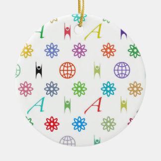 Atheism Monogram Double-Sided Ceramic Round Christmas Ornament