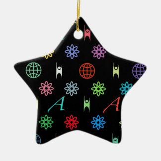 Atheism Monogram Double-Sided Star Ceramic Christmas Ornament