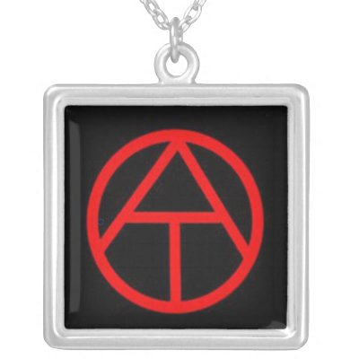Atheism Symbol Silver Plated Necklace Zazzle