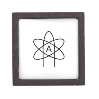 Atheism Symbol #3 Premium Keepsake Boxes