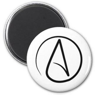 Atheism symbol: black on white magnet