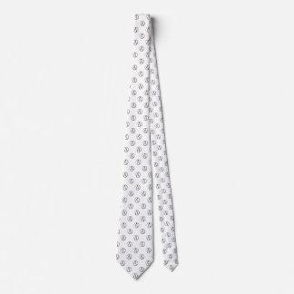 Atheism symbol: black on white tie
