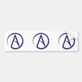 Atheism symbol bumper sticker