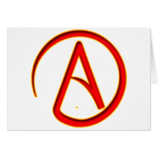 Atheism Symbol Card