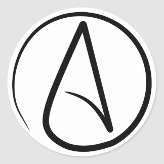 Atheism Symbol Classic Round Sticker