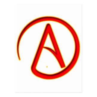 Atheism Symbol Postcard