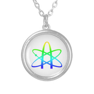 Atheism Symbol Round Pendant Necklace