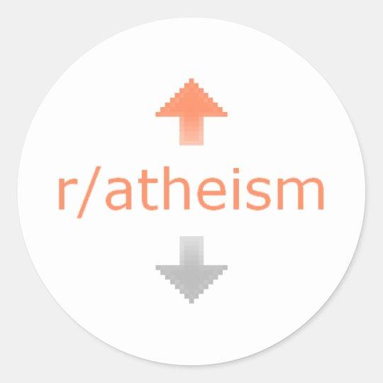 Atheism Upvote Classic Round Sticker