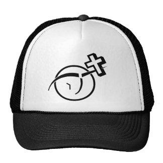 Atheism v Cross Trucker Hats