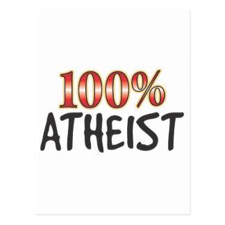 Atheist 100 Percent Post Card