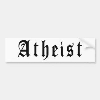Atheist 1 bumper sticker