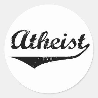 Atheist 2 classic round sticker