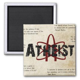 Atheist 2 Inch Square Magnet