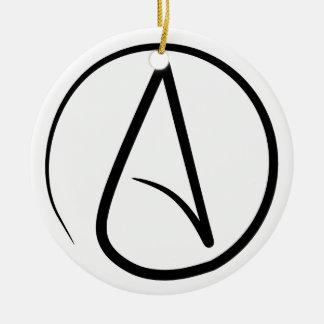 Atheist A Black on White Ornament