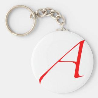 """Atheist """"A""""  logo Basic Round Button Keychain"""
