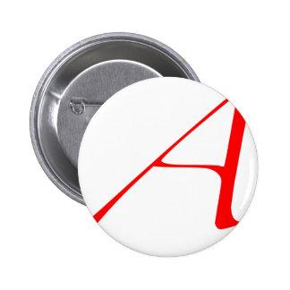 """Atheist """"A""""  logo Button"""