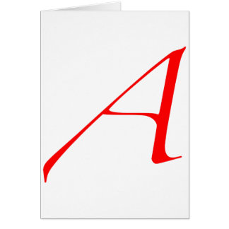 "Atheist ""A""  logo Card"