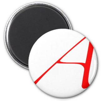 """Atheist """"A""""  logo 2 Inch Round Magnet"""