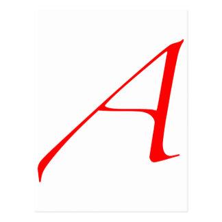 """Atheist """"A""""  logo Postcard"""