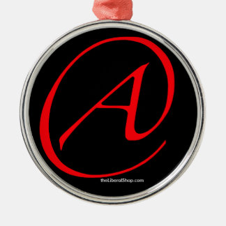 Atheist A Red on Black Ornament Framed