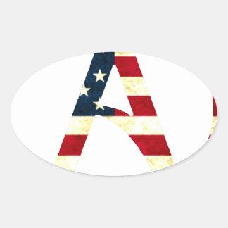 Atheist America Oval Sticker