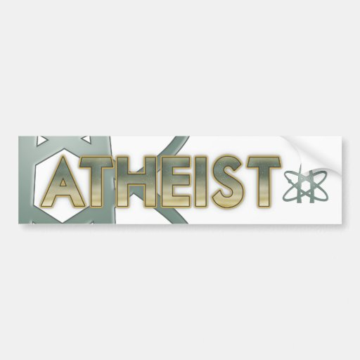 Atheist (American atheist symbol) Bumper Sticker