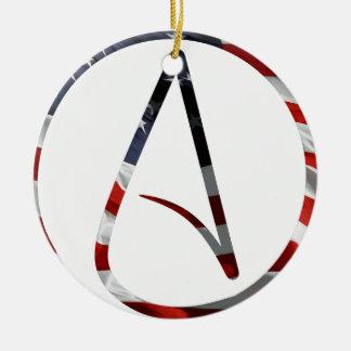 Atheist American Ceramic Ornament