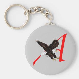 Atheist American Eagle Keychain Basic Round Button Keychain