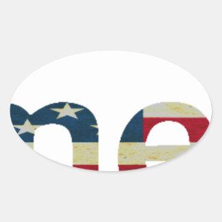 Atheist American Oval Sticker