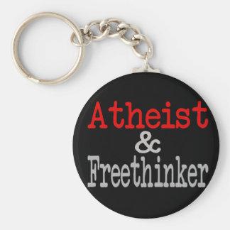 Atheist and Freethinker Basic Round Button Keychain