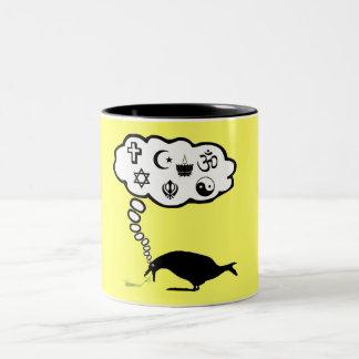 Atheist anti religion Two-Tone coffee mug