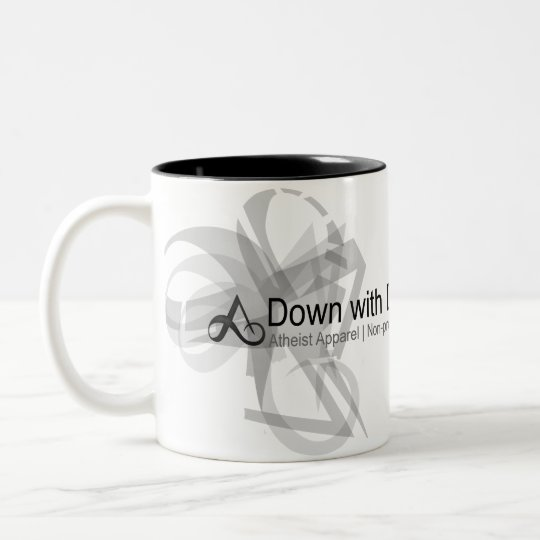 Atheist Apparel - Down with Darwin Mug
