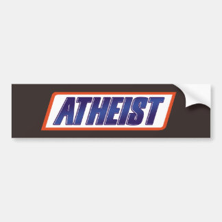 Atheist Atheism Parody Car Bumper Sticker